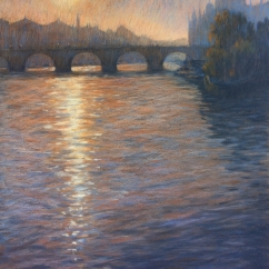 Patricia Galli 'First Light on Pont Neuf, Paris'