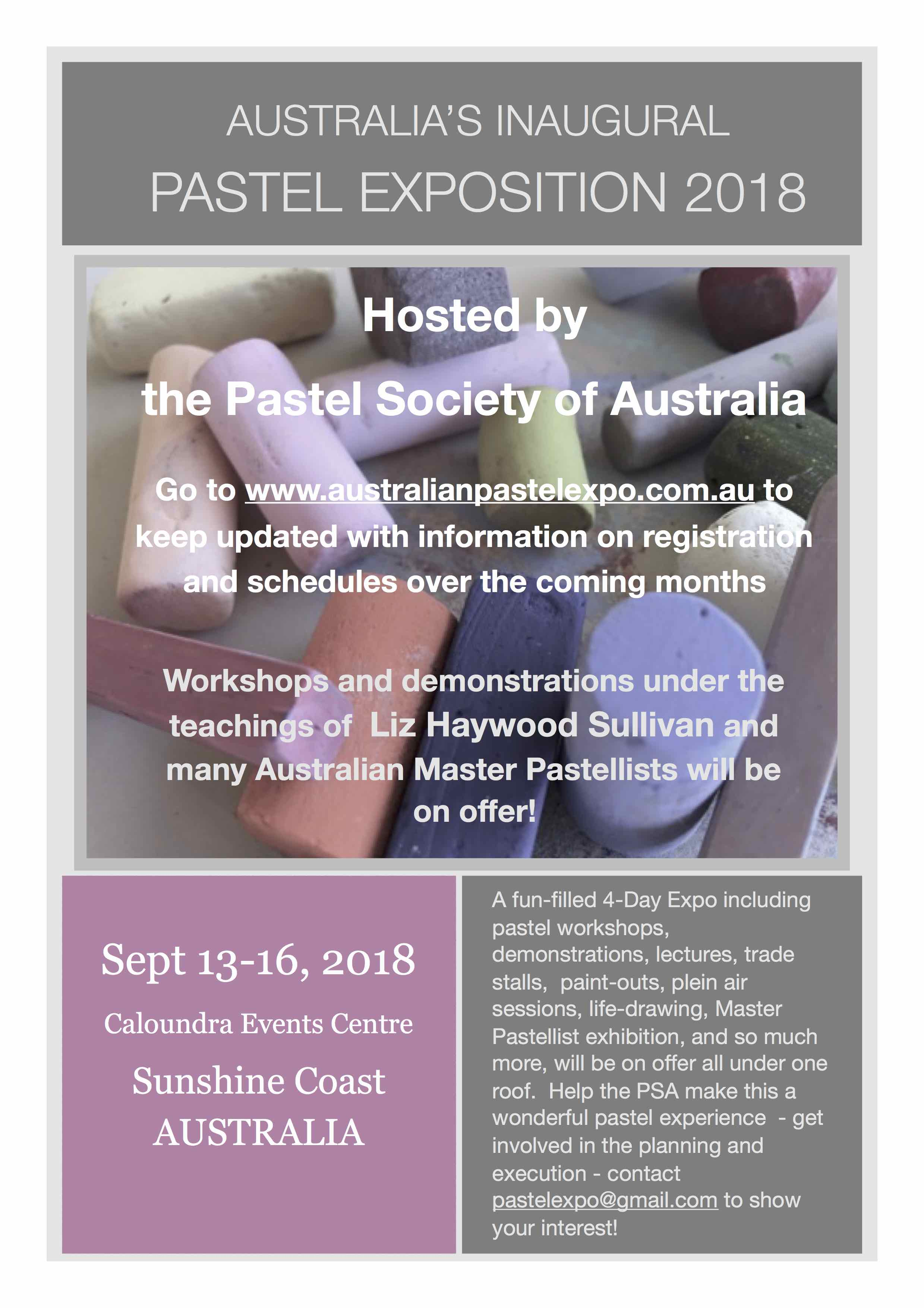 Australia's Inaugural Pastel Exposition 2018 | Pastel Society of Victoria, A