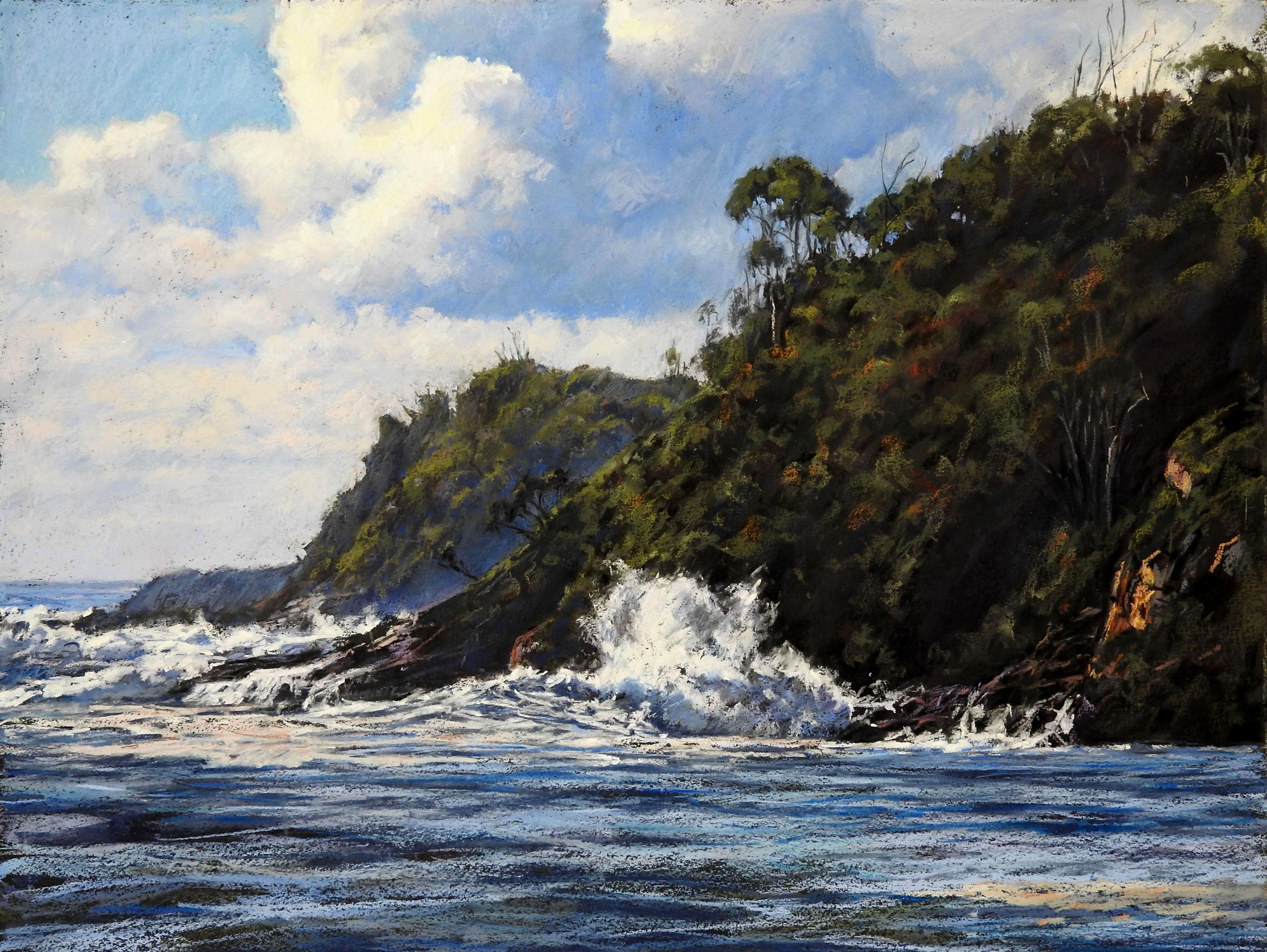Receding Storm, Pambula - by Barbara Beasley-Southgate