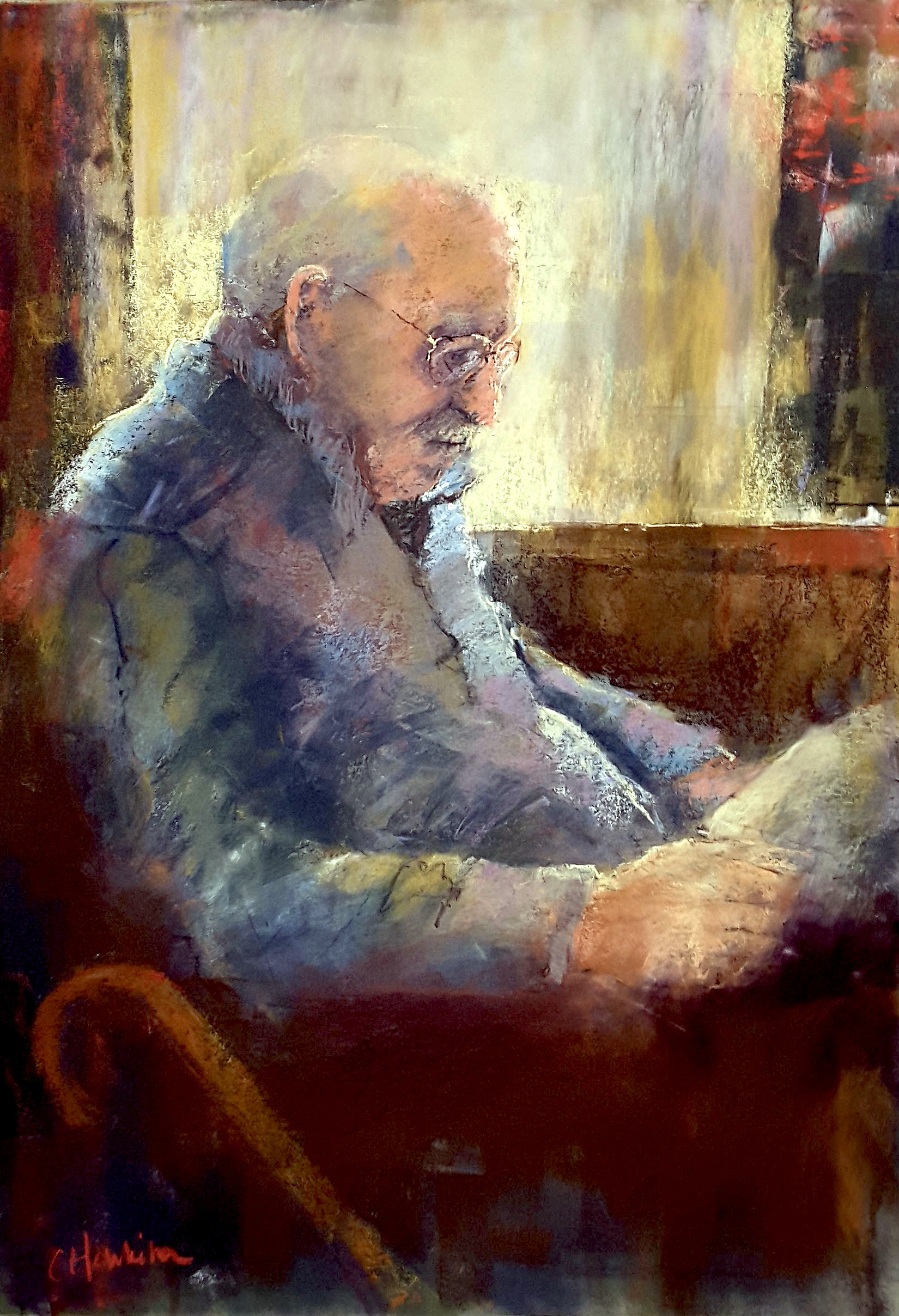 Catherine Hamilton, Old Man in the Pub, London
