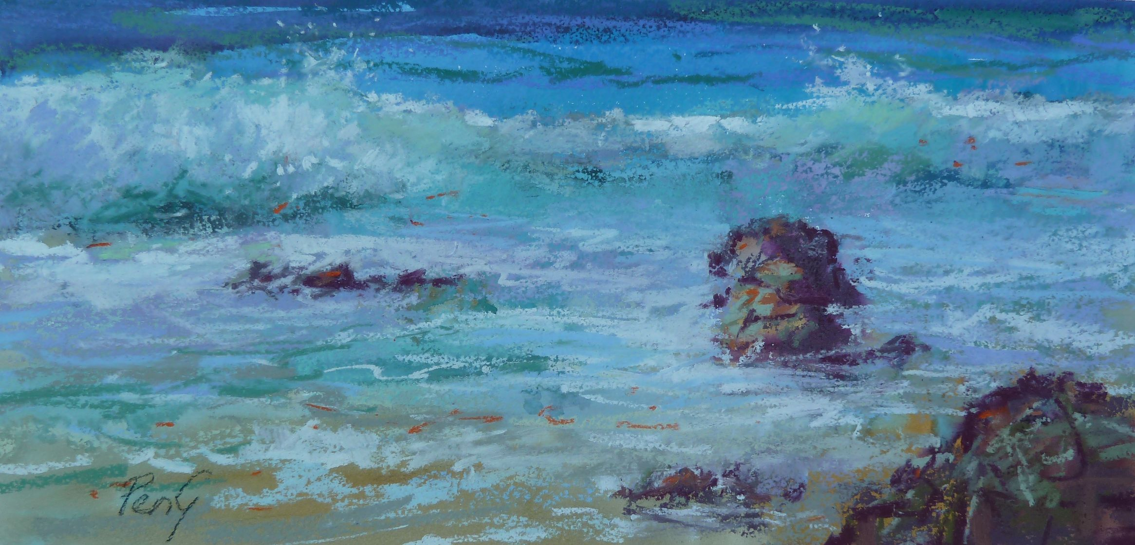 Penelope Gilbert-Ng - Moffat Beach | Pastel Society of Victoria, Australia