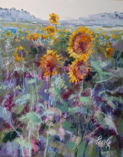 Penelope Gilbert-Ng - Sunflowers | Pastel Society of Victoria, Australia