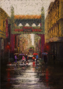 Colin Shaw - Red Reflections, China Town